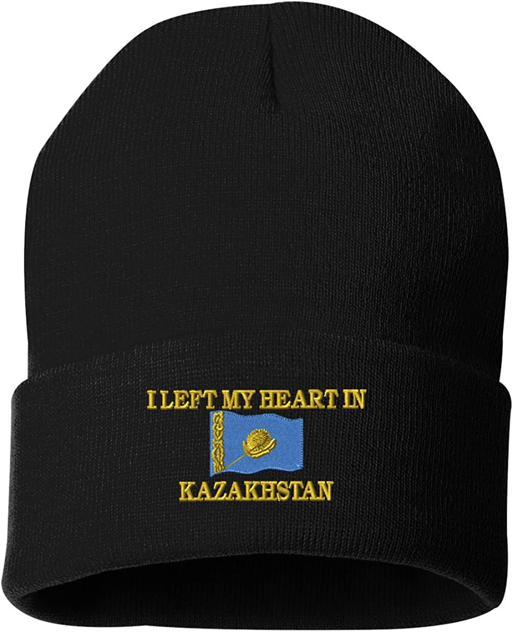 I LEFT MY HEART IN KAZAKHSTAN Custom Personalized Embroidery Embroidered Beanie