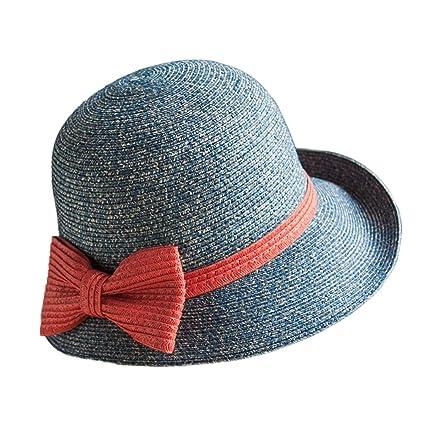 SUSHI Sombrero de Paja de ala Pequeña de Verano - Sombrero de Sol de Ocio  Retro 1e0ddce8bf0
