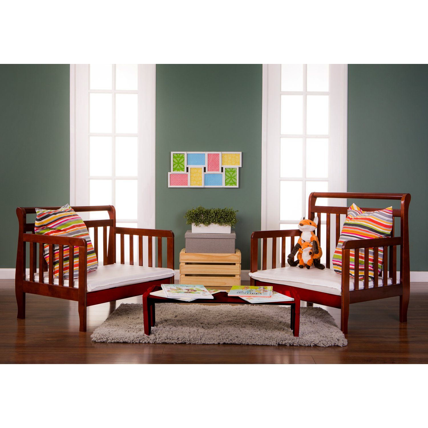 Dream On Me Emma 3 in 1 Convertible Toddler Bed, Espresso by Dream On Me (Image #4)