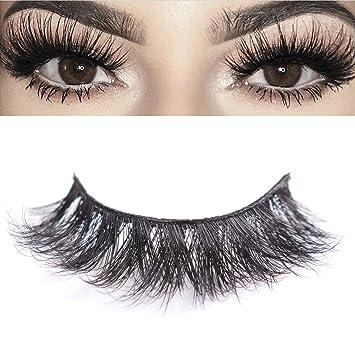 d8e2f6a56ae Amazon.com : 3D Mink Eyelashes Makeup Dramatic False Eyelashes Natural Look  Fluffy Long Reusable Falsies Eyelashes 1 Pair Pack Kelmall : Beauty
