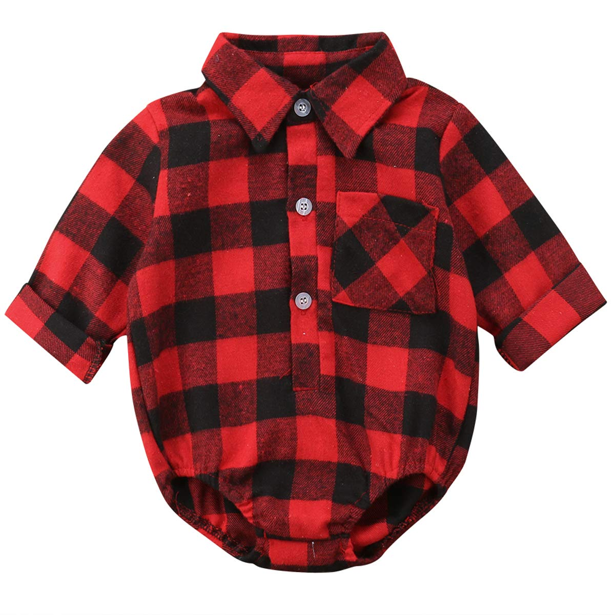 Aunavey Baby Girls Boys You are so Deerly Loved Letters Print Long Sleeve Button Down Plaid Christmas Shirt