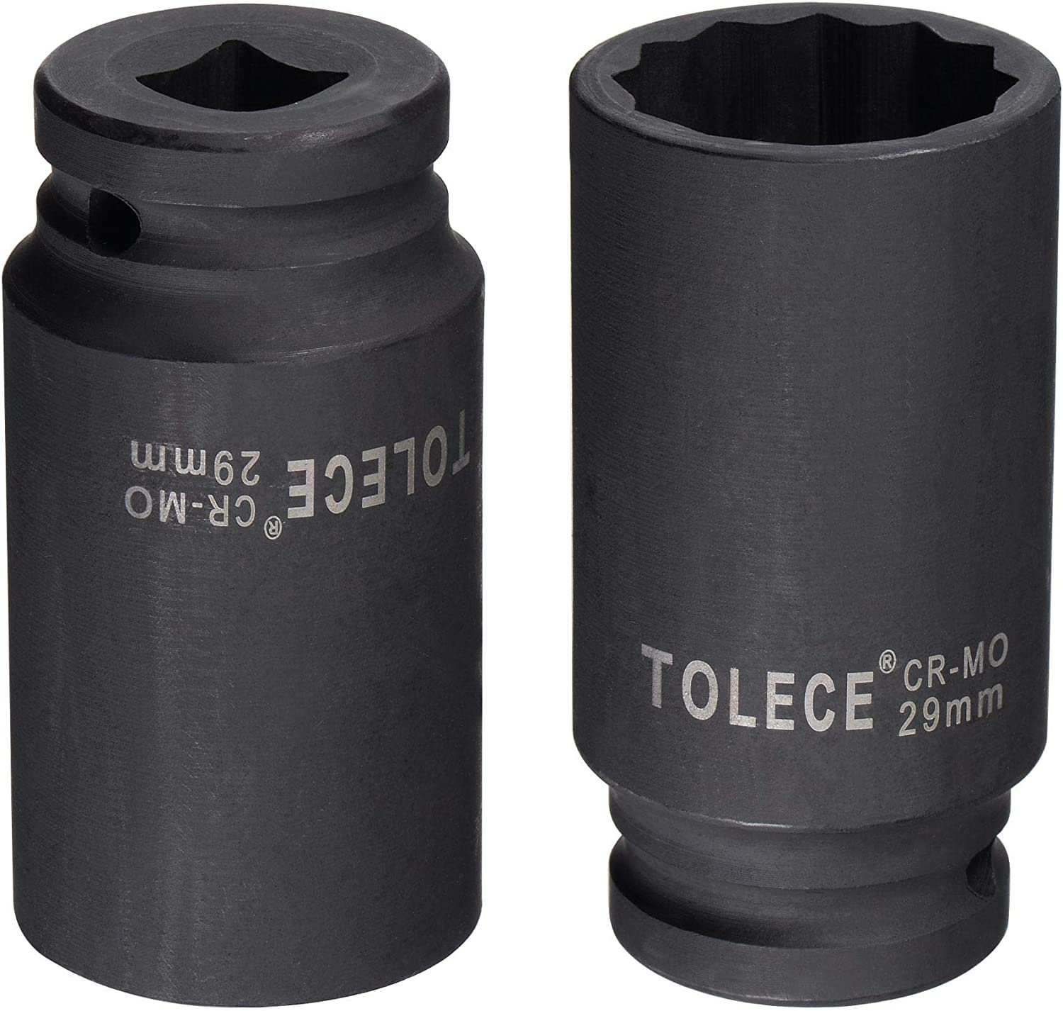 Metric Sizes CR-MO Steel 78mm Length uxcell 1//2-Inch Drive 29mm 12-Point Deep Impact Socket