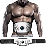 Tabbic ABS Stimulator, USB Rechargeable Portable Fitness Workout Equipment Without Gel Pads for Men Woman, Arm, Leg, Home Off