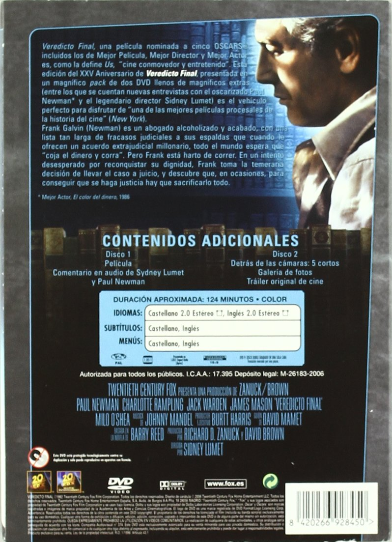 Veredicto Final (2) [DVD]: Amazon.es: Paul Newman, Jack Warden ...