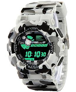 Aviser Avs1017-Gents Green Solitary Affrican Army Pattern Chronograph Digital Watch Watch - for Men
