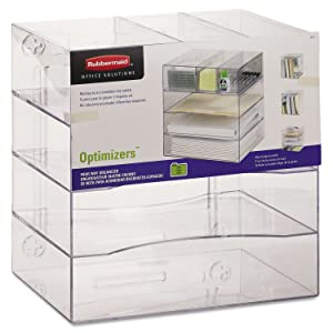 RUB94600ROS - Rubbermaid Optimizers Four-Way Organizer with Drawers