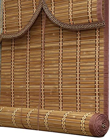LXLA - Persianas enrollables de Montaje Exterior - Puertas/Gazebo/Patio/ Jardín/Cortinas de bambú Exteriores con Refuerzo de Bordes - Color Cerezo (Size : W80cm X H90cm): Amazon.es: Hogar