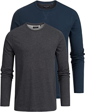 Brave Soul Juego de 2 camisetas de manga larga para hombre ...