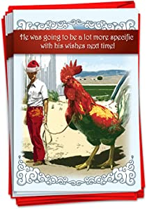 NobleWorks - 12 Funny Christmas Greeting Cards for Adults - Rude Holiday Humor, Boxed Cards with Envelopes (1 Design, 12 Cards) - Big C-ck Christmas B1345