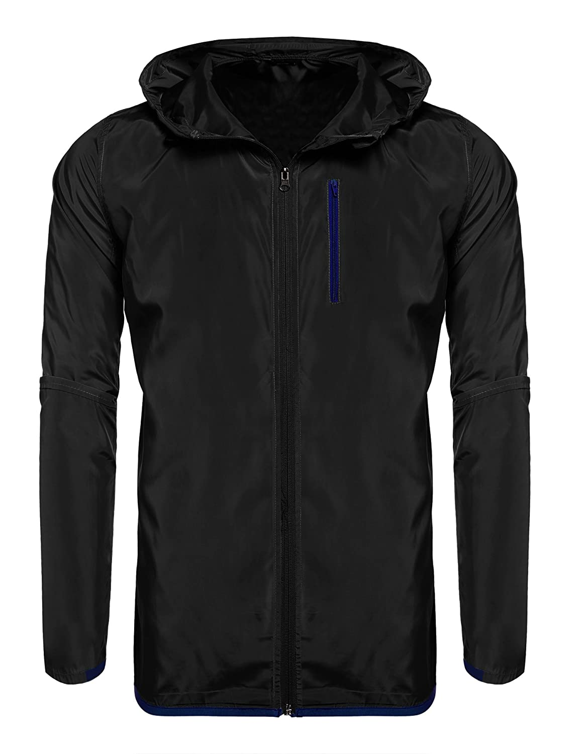 Jinidu Men's Lightweight Outdoor Running Jacket Athletic Track Jackets Windbreaker 16580712