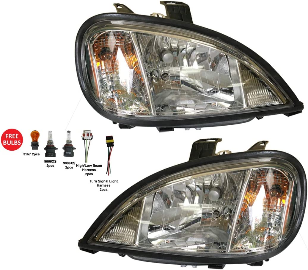 Depo 340-1104P-ASN1 Freightliner Columbia Driver//Passenger Side Replacement Headlight Assembly
