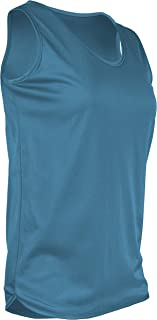 product image for TR-903W-CB Women's Athletic Single Ply Solid Color Light Weight Track Singlet (X-Large, Columbia)