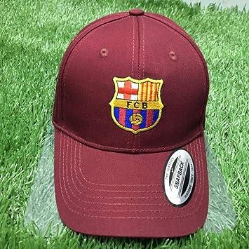 WEII Fanáticos del Equipo de fútbol Europeo Sombreros de Regalo Gorras de béisbol Casuales Sunhats al Aire Libre,Barcelona Vino,Un tamaño: Amazon.es: ...