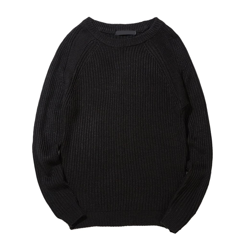 Zhhlaixing Classic Fashion Mens Long Sleeve Jumper Sweater Basic Round Neck Sweatshirts