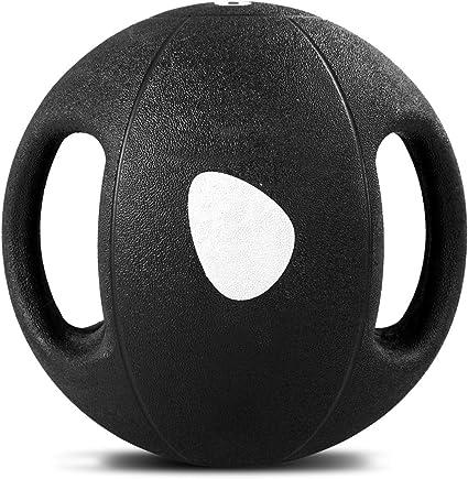 COSTWAY Balón Medicinal de Ejercicio Gimnasia Yoga de Goma con ...