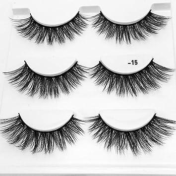 53ada9c95b2 CERROQREEN Eyelashes, 3 Pairs 5D Eyelash Handmade Long Lash Extension  Eyelashes Make Up Reusable And