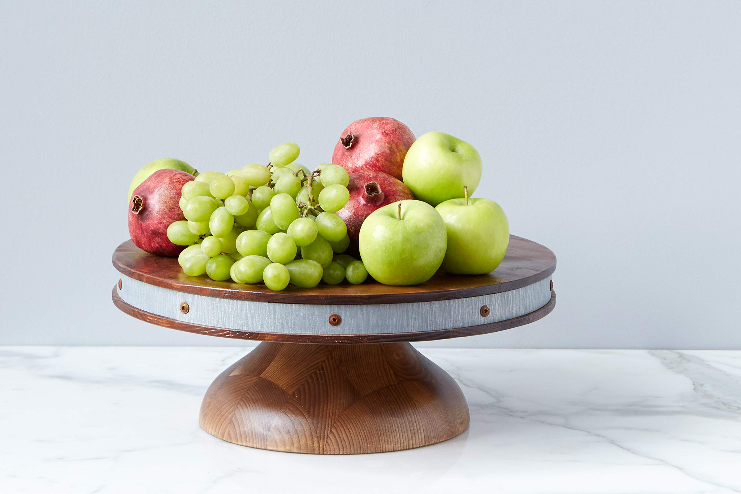 etúHOME Short Reclaimed Wood Cake Stand
