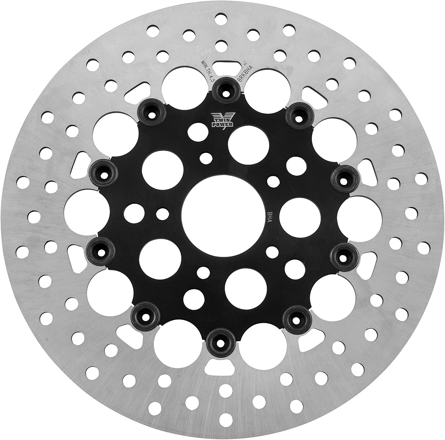 Black Twin Power Floating Hole Rotor