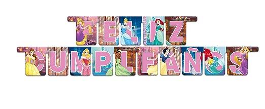 VERBETENA Guirnalda Princesas Feliz Cumpleaños (2,1 M)