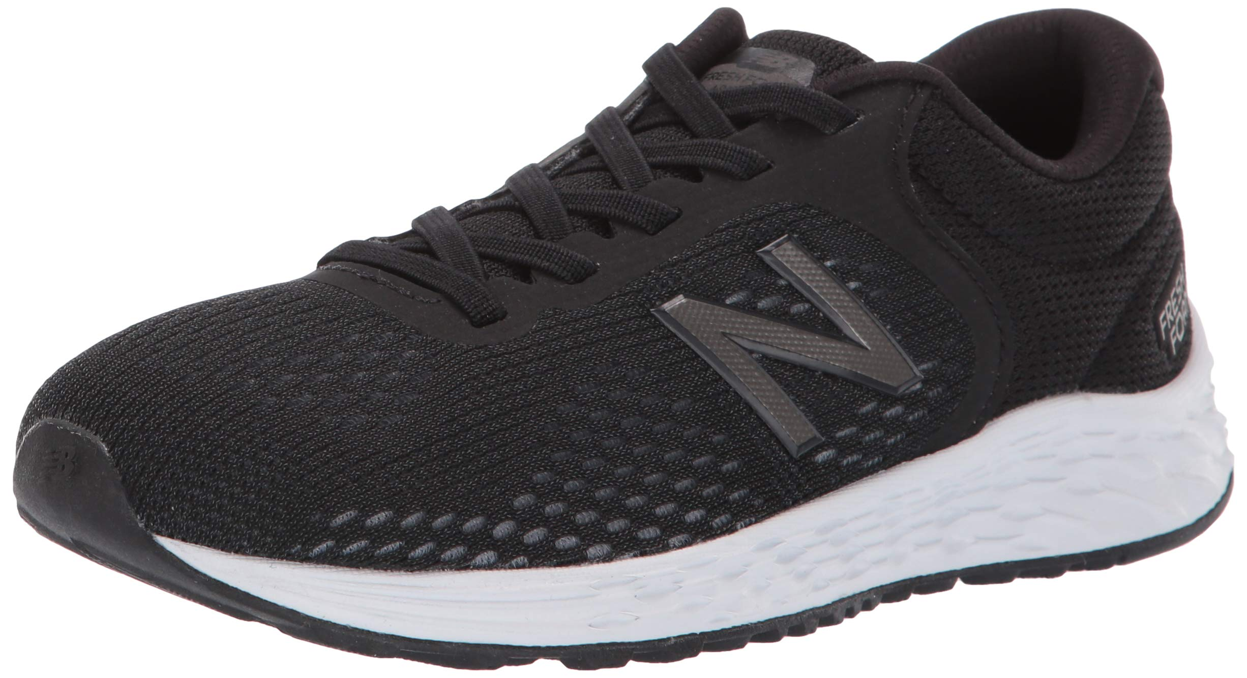 New Balance Boys' Arishi V2 Bungee Running Shoe Black/White 4 M US Big Kid