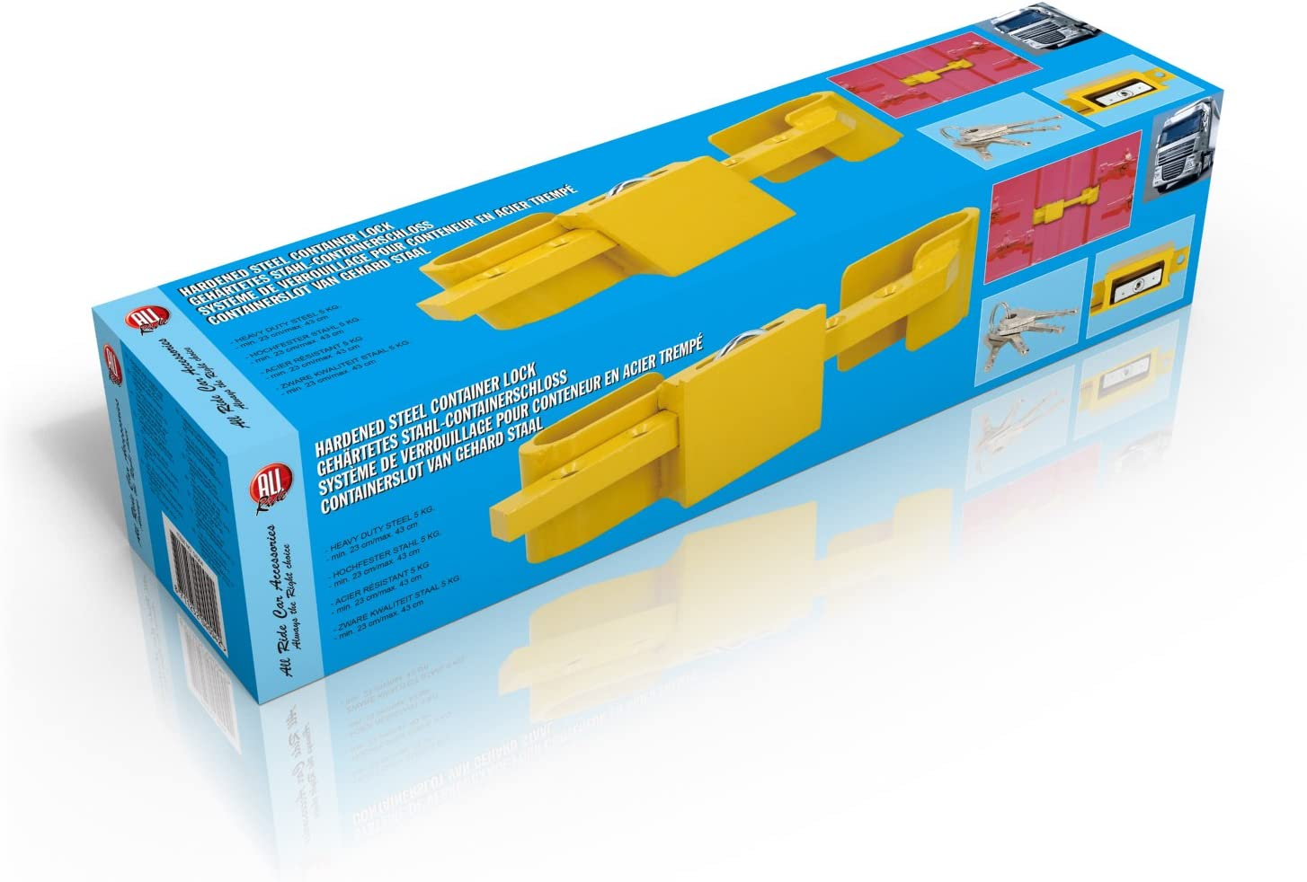 "Container Lock /â/€/"" Lorry Trailer lock High Security Door Lock /â/€/"" Hardened Steel /â/€/"" Security Grade Padlock /â/€/"" 4 Keys Included"
