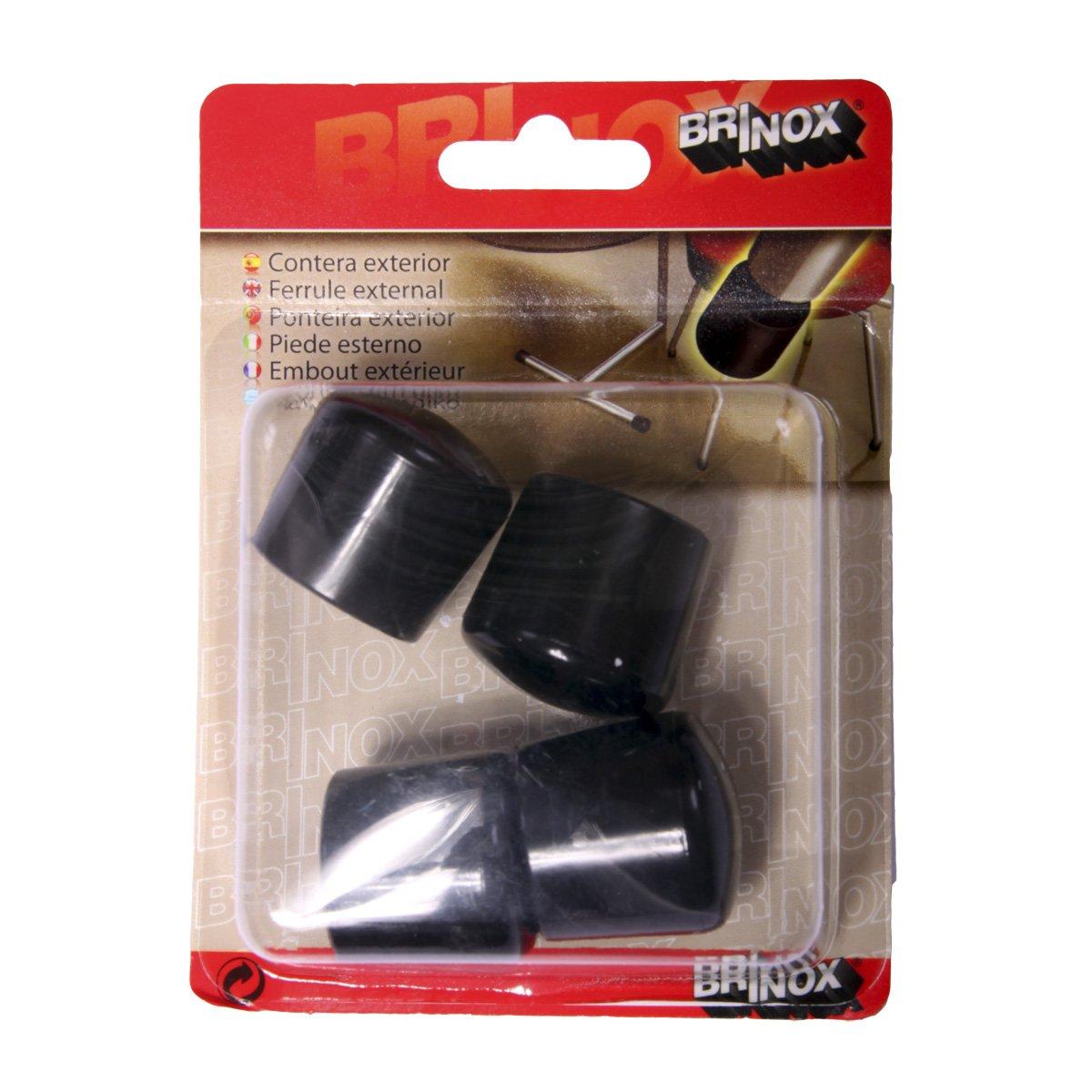 Negro Brinox B75295N Contera exterior redonda flexible Set de 50 Piezas Di/ámetro 28 mm