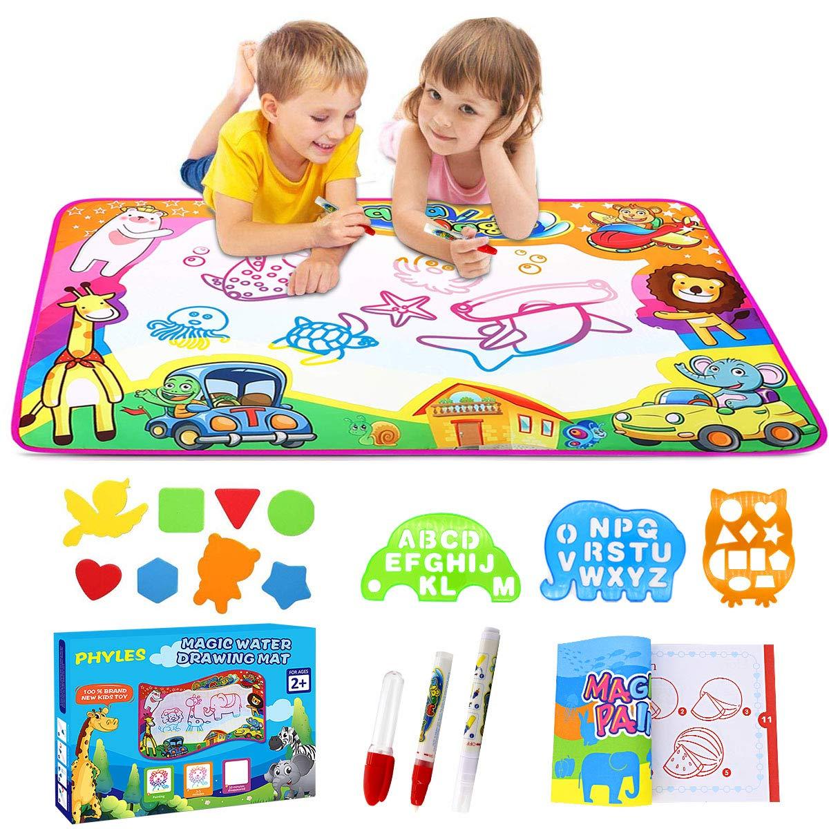 Phyles Doodle Tapis, Doodle Mat Enfant 87*57cm,Tapis de Dessin 6 Couleurs Loisir Créatif -Jouets éducatifs pour Enfants product image