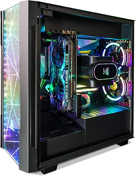 Segotep Phoenix ATX Black Mid Tower PC Gaming Computer Case USB 3.0 Type-C Ports/Graphics Card Vertical Mounting with Tempered Glass & RGB Front Panel (PC Case ONLY)
