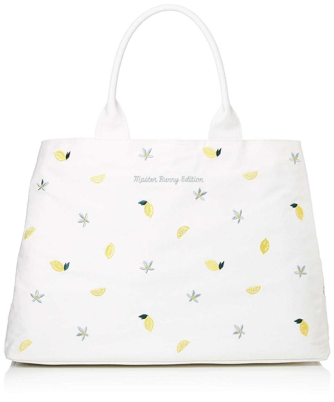 [マスターバニー] トートバッグ レモン刺繍 三層 158-9181302 B07KLHYLVH 030_ホワイト