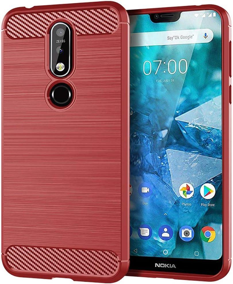 Lapinette Gel Nokia 7.1 - Azul - Rojo: Amazon.es: Electrónica