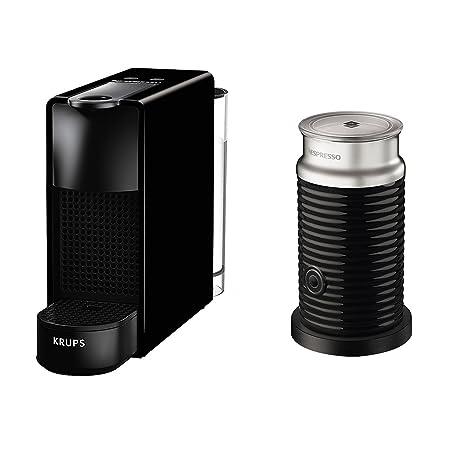 Krups eléctrica Cápsulas de Nespresso Essenza Mini con Aeroccino, bloque térmico de sistema de calefacción