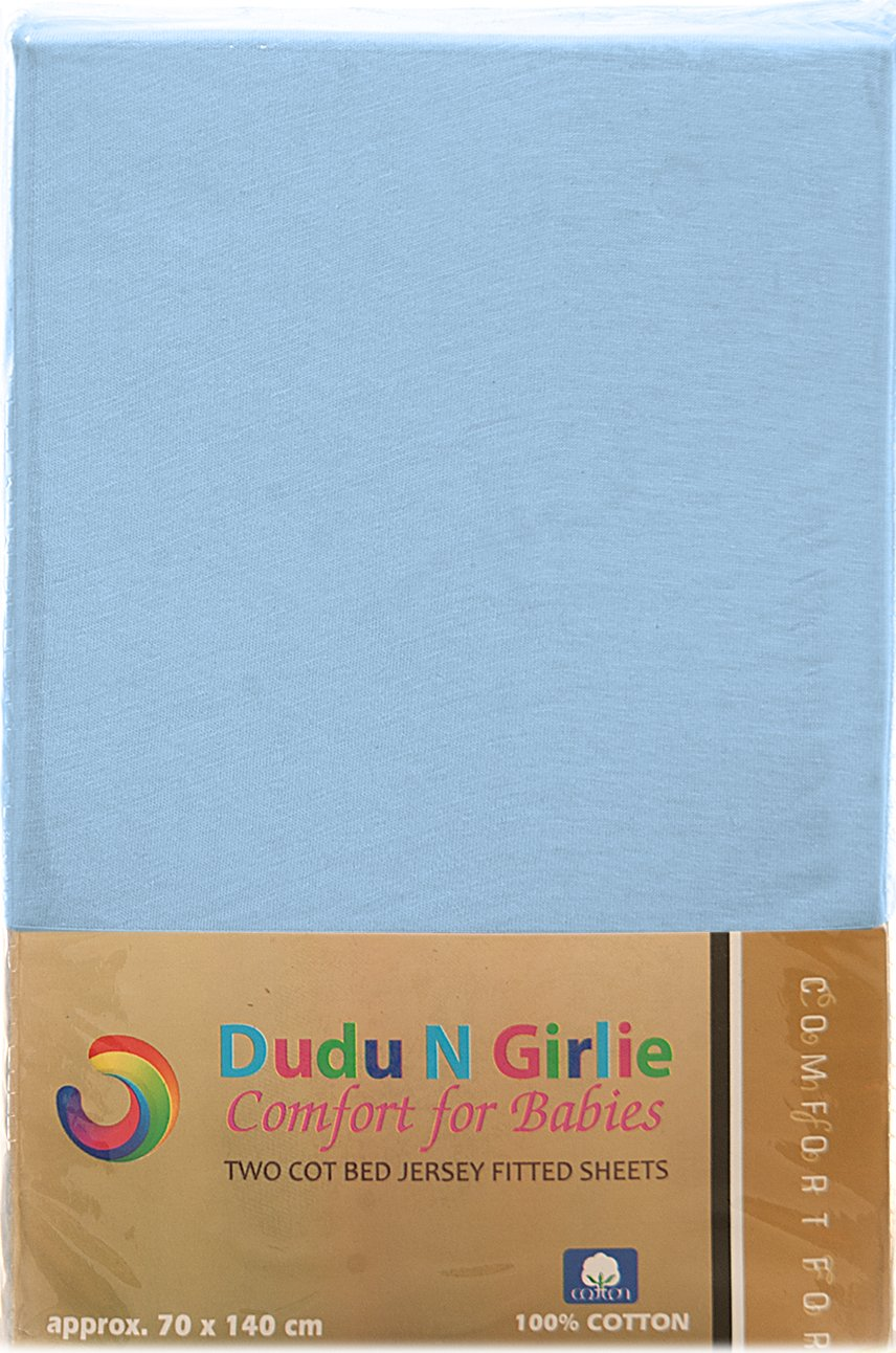 Dudu N Girlie Next2Me Cotton Jersey Crib Fitted Sheets 51 x 85cm 2-Piece White