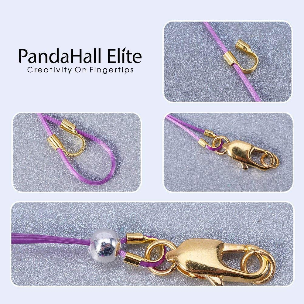 PH PandaHall 1 Pack Gold Silver Brass Wire Guardian Wire Protector in Box for Jewelry Making 5x4x1mm