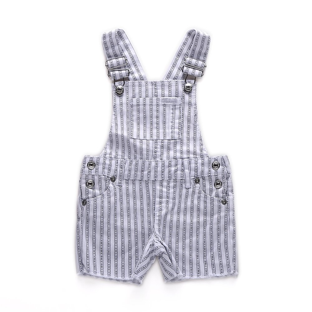 Snowdreams Baby Girls Classic Vertical Stripes Print Overalls Cotton Shortalls Size 3T