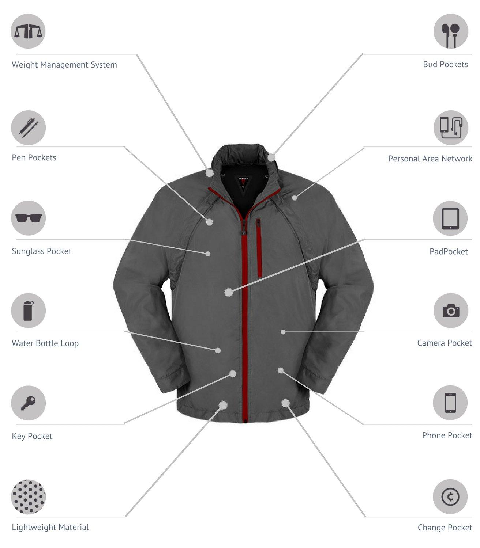 SCOTTeVEST Tropiformer Jacket - 22 Pockets – Convertible, Travel Clothing RED L by SCOTTeVEST (Image #2)