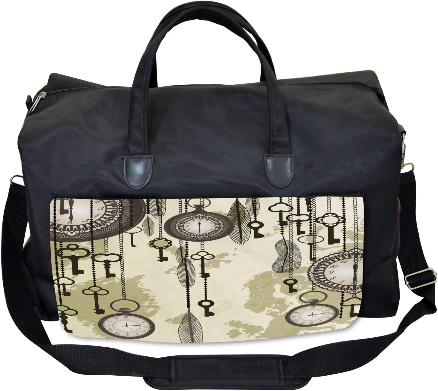 Green Old 20s Design Ambesonne Tribal Gym Bag Large Weekender Carry-on