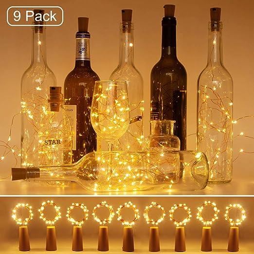 luz de Botella, Litogo luz Corcho, luces led para Botellas de Vino ...