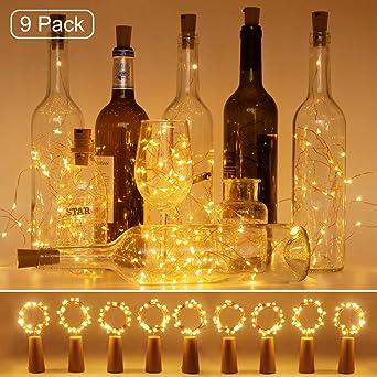 Flaschenbeleuchtung Flaschenlicht  Weinflasche Licht mit LED Lichterkette Korken