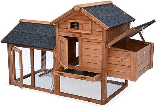 Alices Garden - Gallinero de madera, 3 gallinas, jaula de gallina con cerramientos - Oceania: Amazon.es: Productos para mascotas