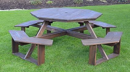 amazon com a l furniture 54 amish made octagonal pressure treated rh amazon com Untreated Pine Outdoor Furniture treated pine outdoor table