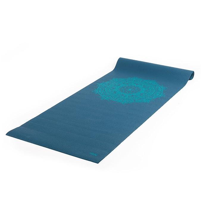 Esterilla de yoga Leela Collection, muchos colores y diseño, PVC ligero mate, ideal para principiantes