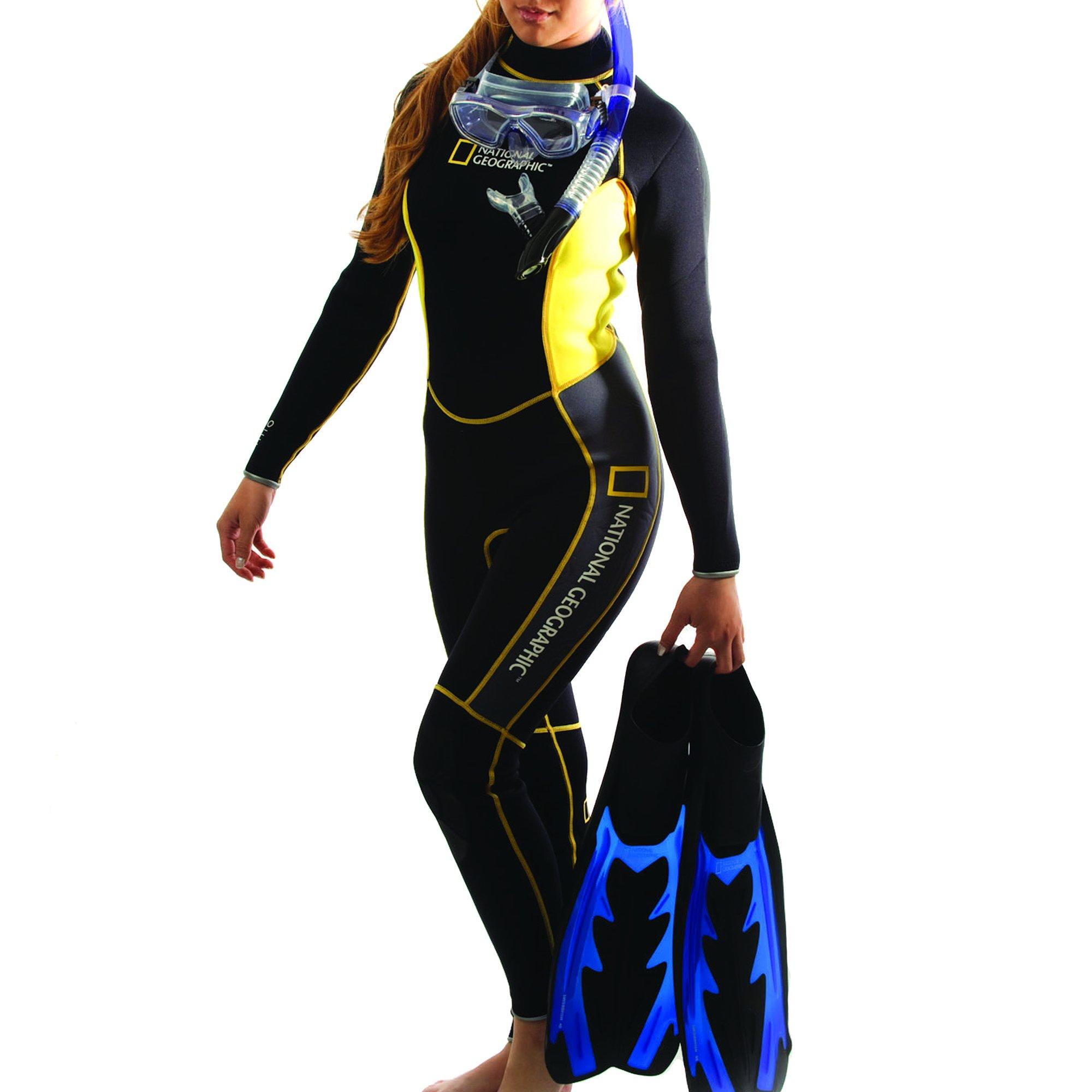 National Geographic Snorkeler Ladies Classic 1 Piece Suit, Large 5674