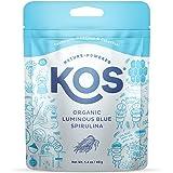 KOS Organic Luminous Blue Spirulina Powder - Natural Food Coloring, Vibrant Blue, Phycocyanin - Plant Based, Non-GMO, Gluten-
