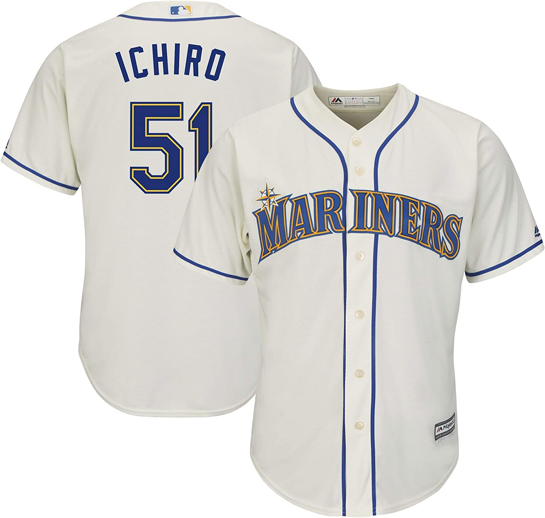 OuterStuff Ichiro Suzuki Seattle Mariners #51 Cream Kids 4-7 Cool Base Alternate Replica Jersey