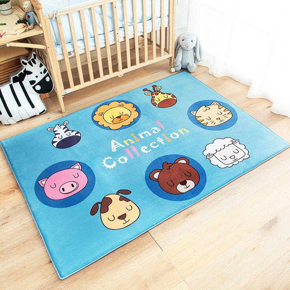 RuiHome Animal Printed Kids Baby Crawling Play Mat Nursery Rugs Soft Carpet for Toddler Bedroom Bedside Playroom Living Room - 39x59