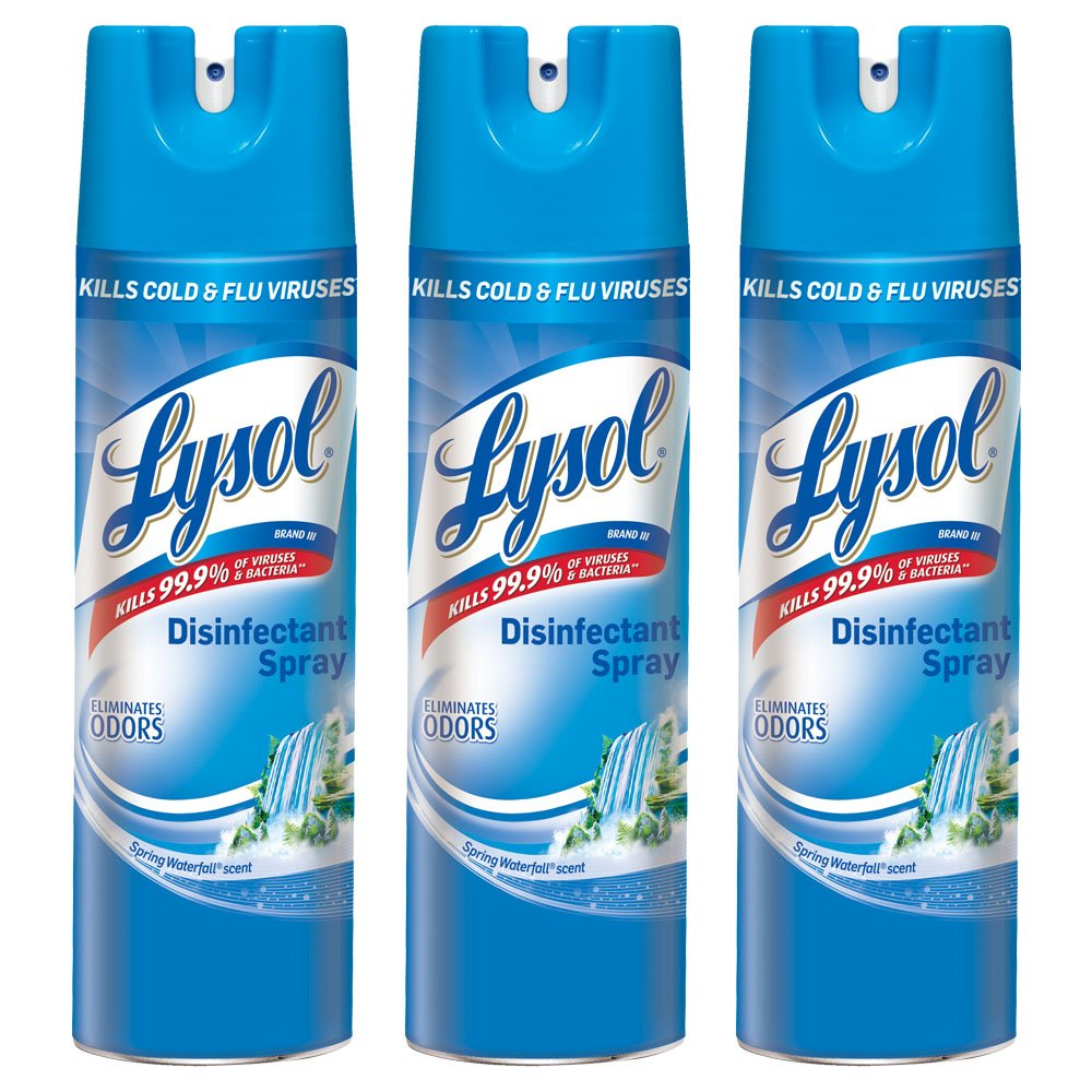 Lysol Professional Disinfectant Spray, Spring Waterfall, 19 oz (Pack of 3) by Lysol