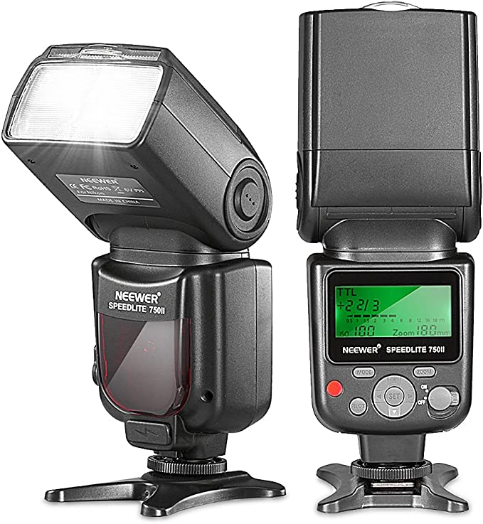 Neewer PRO i-TTL Flash Deluxe Kit para NIKON: 750II iTTL Kit de ...