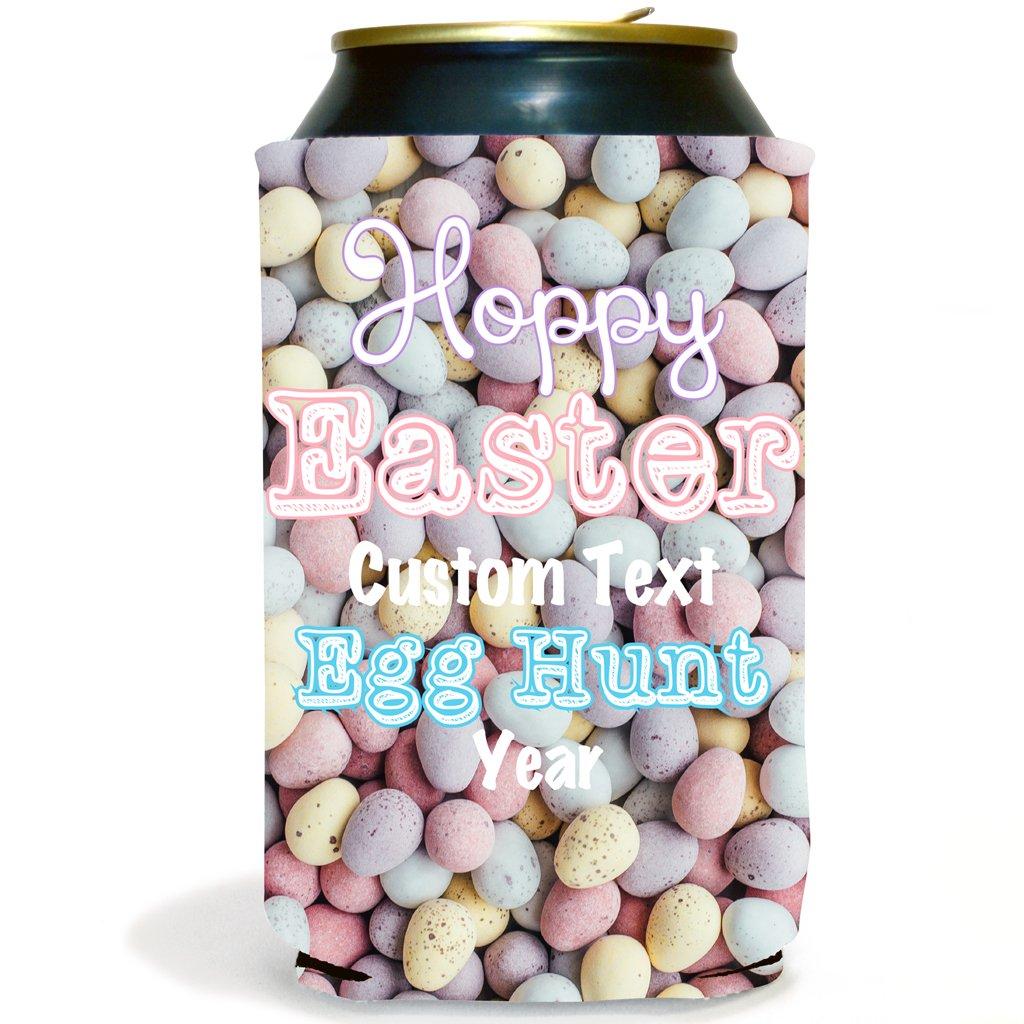 Custom Easter Can Cooler- Easter egg Hunt Hoppy Easter (250)