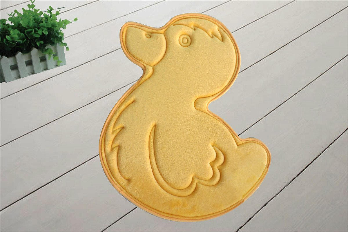 Incredibly Soft and Absorbent Kid's Memory Foam Bath Mat, 24 By 24-inch, Yellow Duck
