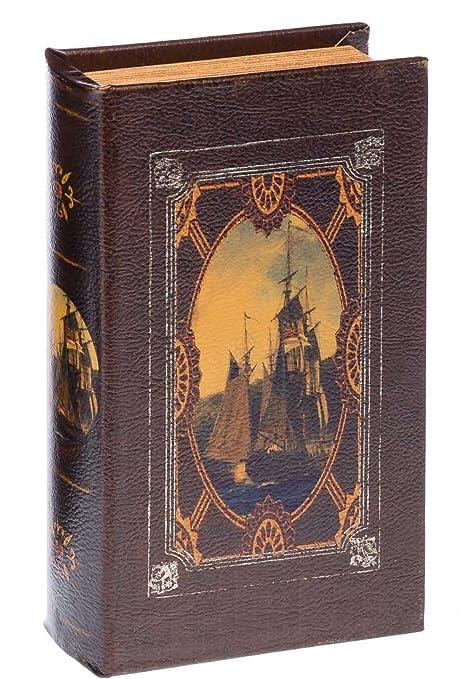 Caja en Forma de librode 27cm velero Libro del Libro Seguro Estilo ...